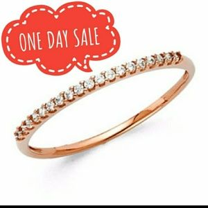 Jewelry - Dainty 14k Real Rose Gold Wedding Band Ring